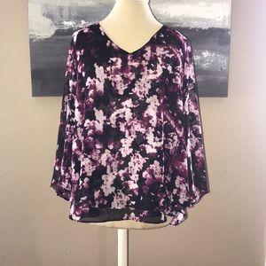 Jennifer Lopez purple blouse, size L